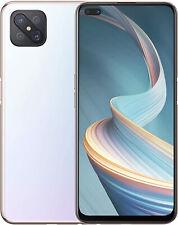 """NUOVO Oppo Reno 4 Z BIANCO 6.50"""" 128GB DUAL SIM 5G Android 10 SIM Gratis Sbloccato"""