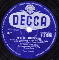 "TOMMY STEELE  78 "" IT'S ALL HAPPENING / WHAT DO YOU DO "" UK DECCA F11026 EX+/ M-"