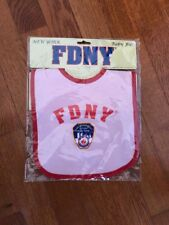 New York City FDNY Baby Bib Officially Licensed Pink ~New in package