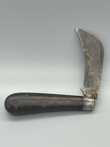 Vintage CAMILLUS Hawk Bill Pruner Folding Wood Pocket Knife New York