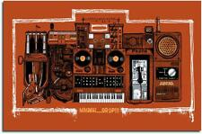BEASTIE BOYS BEASTIE BOX RUST POSTER LIMITED EDITION SCREEN PRINT BY KARL TAGLE