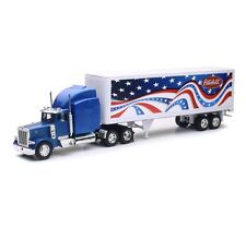 NEWRAY 1:32 LONG HAUL TRUCKER PETERBILT MODEL 379 PATRIOTIC TRUCK DIECAST 12333