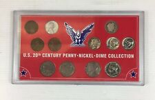 US United States Of America 20th Century Penny Nickel Dime Collection COA