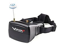 """VISIONPLUS FPV GOGGLES 5"""" TFT MONITOR 800X480 & 40 CHANNEL RECEIVER 5.8G VISION+"""