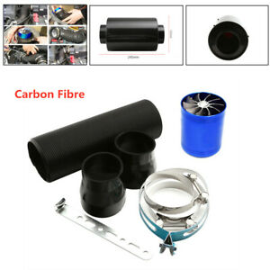 """Universal 3""""  Filter Box  Carbon Fiber Induction Ram Cold Air Intake System"""