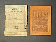 New listing Rare Murad Turkish Cigarettes University of Michigan Leather w Original Envelope