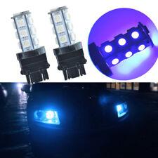 2PCS Ice Blue LED Turn Signal DRL Light Bulbs 8000K T25 18 SMD 3156 3157 3757