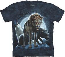 S - 3XL The Mountain Erwachsenen T-Shirt angreifender knurrender Wolf Wölfe