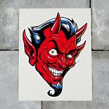 Smiling Devil Sticker Decal Wall MacBook Laptop iPad - SKU6762