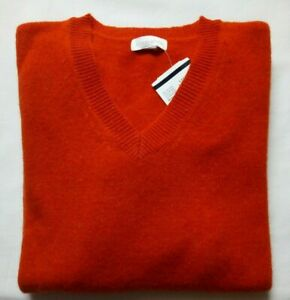 Brookshire P&C Damen Pullover Lammwolle 80% orange V-neck UVP39,99€ NEU