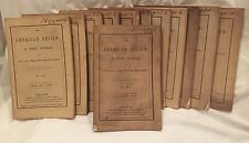 SCARCE THE AMERICAN REVIEW: A WHIG JOURNAL, 1846 COMPLETE YEAR, 12/12 ISSUES