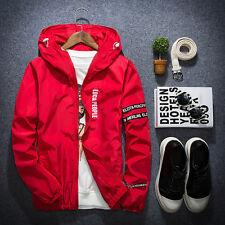 Men's Fashion Thin Zipper Jacket Hooded Hoodies Sportswear Coat Windbreaker Tops