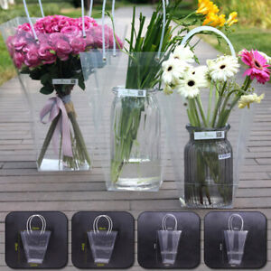 Waterproof Clear Gift Bag Packing Box Florist Flower Bouquet Handbag Tote Bag