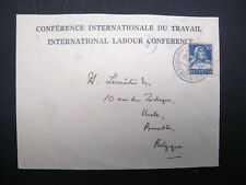 ILO BIT SERVICE COVER 10TH CONFERENCE 1927 USED
