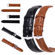 Soft Genuine Leather Quick Release Wrist Watch Band Strap Sport 12-24 mm Belt