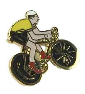 Tour De France Overall Leader Yellow Jersey Cycling Biker Enamel Badge