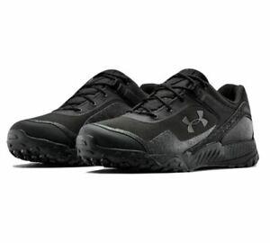 Under Armour 3022755 Men's UA Valsetz RTS 1.5 Low Hiking Military Shoes, Black