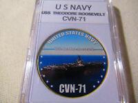 US NAVY - USS THEODORE ROOSEVELT CVN-71 Challenge Coin