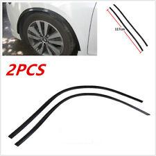 """2pcs 46"""" 3D Carbon Fiber Car Wheel Eyebrow Arch Lips Fender Mud Flap Protectors"""