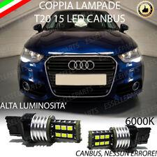 COPPIA LUCI DIURNE POSIZIONE DRL 15 LED T20 W21W CANBUS AUDI A1 PRE RESTYLING