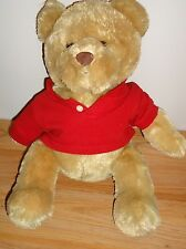 "AEROPOSTALE 15"" stuffed plush TEDDY BEAR w/Red AERO shirt '"