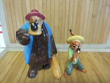 Brer Bear & Fox Figurine Song of the South Walt Disney Productions Japan Vintage