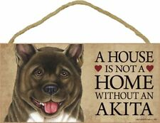 A House Is Not A Home Akita Dog 5x10 Wood Sign Plaque Usa Made