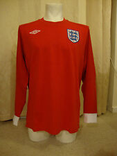 "England 2010 - 2011 Long Sleeve Away Shirt by Umbro  - BNWT (44"" Chest)"