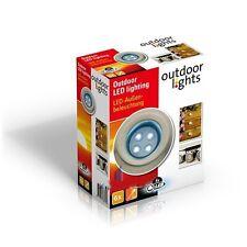 6 SPOTS LED TERRASSE ENCASTRABLE DECORATION  12v 230v JARDIN EXTERIEUR  NEUF 09