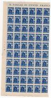 1944/45 RSI MONUMENTI DISTRUTTI 1,25 LIRE BLOCCO 60 VALORI INTEGRI B/3461