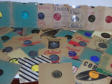 "Great Lot of (12) 78 RPM 10"" Records in SLEEVES RESALE WHOLESALE random 20's-60s"