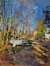 Korovin Sole di primavera riproduzione quadro olio tela dipinto falso d'autore