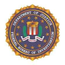 """FBI Police Security Bumper Sticker 5"""" x 5"""""""