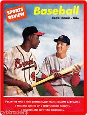 Hank Aaron / Stan Musial Baseball Magazine Cover  REFRIGERATOR  MAGNET