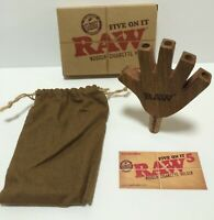 RAW Rolling Papers FIVE ON IT Wooden Cigarette Holder Brand New/Unsmoked