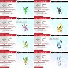 Pokemon Sword And Shield all 8 shiny 6iv Eevee Evolutions eeveelutions