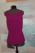 Carolina Herrera Purple Knit Top Size Medium Sleeveless  Shirt MINT