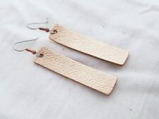 Rose Gold Metallic / Leather Earrings / FREE SHIPPING / Joanna Gaines / Bar