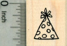 Party Hat Rubber Stamp, Small A29909 WM