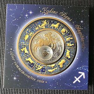 "Belarus 2013 20 Rubles Zodiac Signs series ""Sagittarius"" Silver Coin."