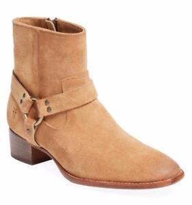 $368 - FRYE Dara Sand Suede Leather Harness Bootie Size 7
