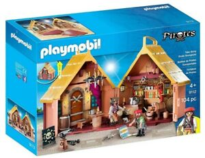 Playmobil Take Along Pirate Stronghold 9112 - Pirate Playset - 104 Pieces - New