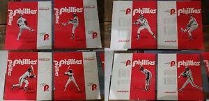 4 Rare Vintage 1979 Philadelphia Phillies Baseball Book Covers