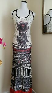 Save The Queen Mesh Embroidered Tank Maxi Dress L