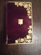 More details for antique 1831  purple velvet common prayer  book (bible)