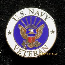 US NAVY VETERAN HAT PIN UP GIFT LOGO CREST SEAL TOPGUN USN USS USN VET EAGLE WOW