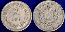 2 Lei 1924 Bun Pentru Romania #1426A
