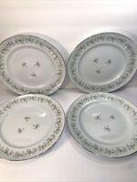 """4 JOHANN HAVILAND DINNER PLATES ''FOREVER SPRING""""""""  10''"""