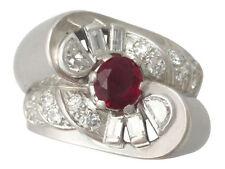 Unbranded Ruby Not Enhanced Diamond Fine Jewellery