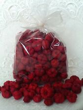 Pumpkin Pods Putka DEEP RED MIX 4 CUPS Americana Christmas Bowl Fillers
